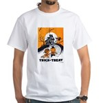 Vintage Trick or Treat Image White T-Shirt