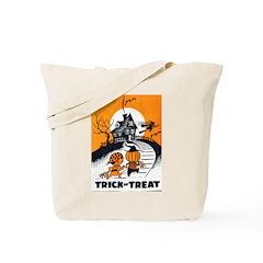 Vintage Trick or Treat Image Tote Bag