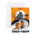Vintage Trick or Treat Image Greeting Cards (Pk of