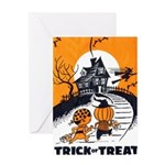 Vintage Trick or Treat Image Greeting Card