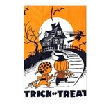 Vintage Trick or Treat Image Postcards (Package of