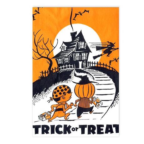 Vintage Trick or Treat Image Postcards (Package of