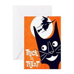 Vintage Trick or Treat Image Greeting Card