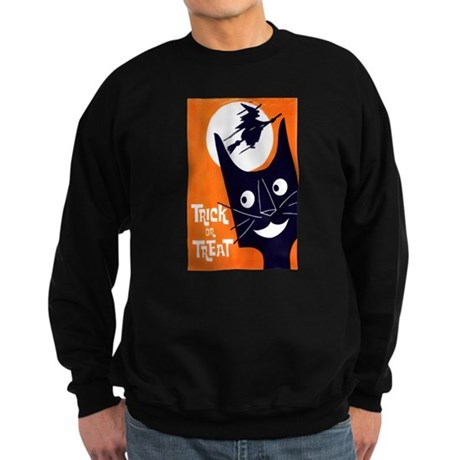 Vintage Trick or Treat Image Sweatshirt (dark)
