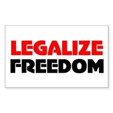 Legalize Freedom Rectangle Decal
