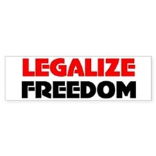 Legalize Freedom Bumper Car Sticker