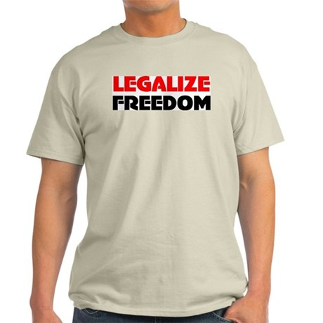 Legalize Freedom Ash Grey T-Shirt
