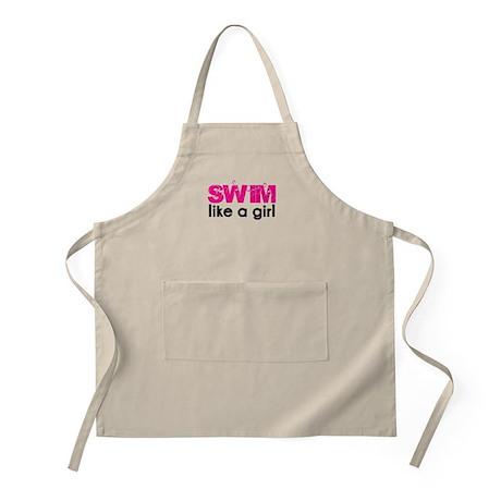 swim like a girl Apron