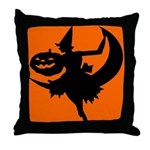 Moon Witch Throw Pillow