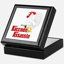 Raccoon Assassin Rooster Keepsake Box