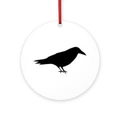 The Raven Ornament (Round)