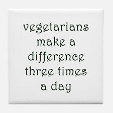 Vegetarianism Tile Coaster