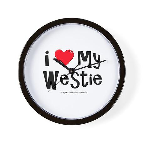 I Love My Westie Wall Clock