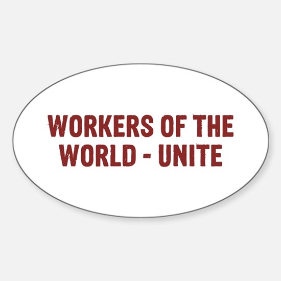 Workers Sticker (Oval)