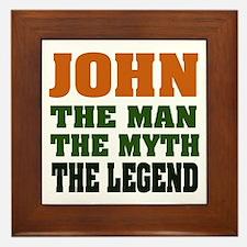 JOHN - The Legend Framed Tile
