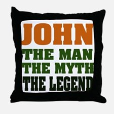 JOHN - The Legend Throw Pillow