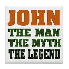 JOHN - The Legend Tile Coaster