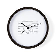 MicroBlackWhite Wall Clock