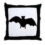 Go Batty Throw Pillow