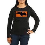 Go Batty Women's Long Sleeve Dark T-Shirt
