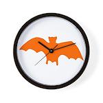Orange Batty Wall Clock