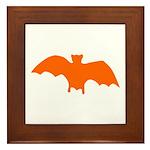 Orange Batty Framed Tile