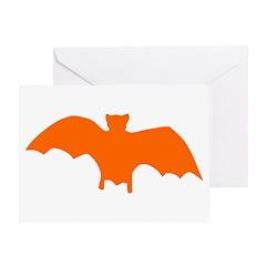 Orange Batty Greeting Card