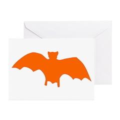 Orange Batty Greeting Cards (Pk of 10)