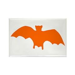 Orange Batty Rectangle Magnet
