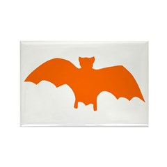 Orange Batty Rectangle Magnet