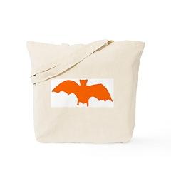 Orange Batty Tote Bag