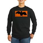 Orange Batty Long Sleeve Dark T-Shirt
