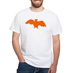 Orange Batty White T-Shirt