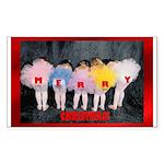 Sugar Plum Fairies Sticker (Rectangle)