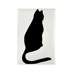 Black Cat Rectangle Magnet (100 pack)