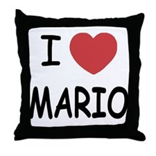 I heart Mario Throw Pillow
