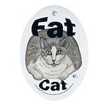 Fat Cat Ornament (Oval)