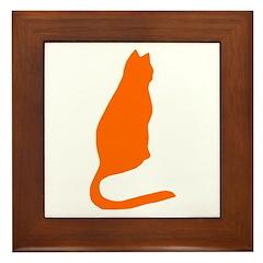 Orange Kitty Framed Tile