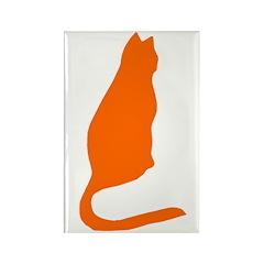 Orange Kitty Rectangle Magnet (10 pack)