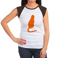 Orange Kitty Women's Cap Sleeve T-Shirt
