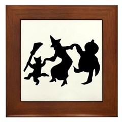 Halloween Dance Framed Tile
