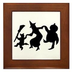 Halloween Dance Framed Tile