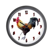 Plain Rooster Wall Clock 10inch