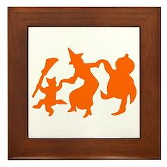 Festive Halloween Dance Framed Tile