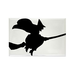 Flying Witch Rectangle Magnet