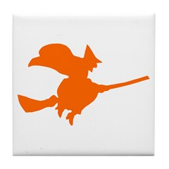 Orange Witch Tile Coaster