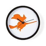 Orange Witch Wall Clock