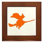 Orange Witch Framed Tile