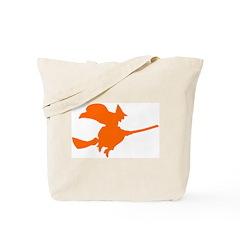Orange Witch Tote Bag