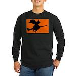 Orange Witch Long Sleeve Dark T-Shirt